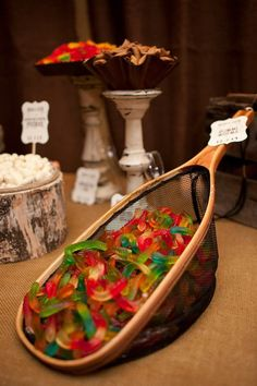 Groom's table, fishing theme, candy buffet by www.dressydesigns.com, www
