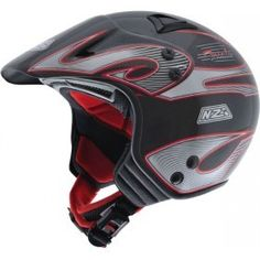 #CASCO NZI TRIALS CR CARBONO ROJO, Casco moto para la práctica del trial.