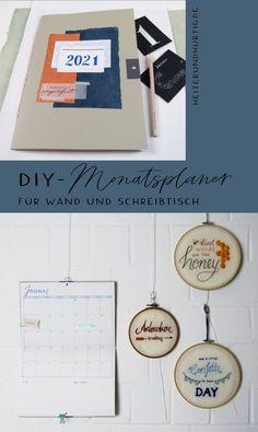 Du suchst den perfekten Monatsplaner? Mach ihn einfach selbst. Hier findest du die Anleitung für ein XL-Heft, dass sich als Monatsübersicht an der Wand genauso gut macht wie auf dem Schreibtisch. Wands, Blog, Paper, Handmade Books, Book Folding, Table Desk, Homemade, Diy, Walls