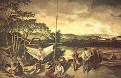 Bandeirantes, gravura do século XVIII.
