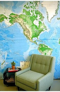 i want a giant map wall: via pret a voyager