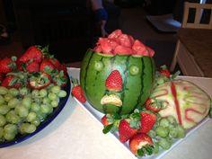 Zombie party food watermelon brains | Walking dead