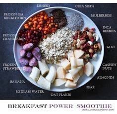 Breakfast Power Smoothie / healthy lifestyle
