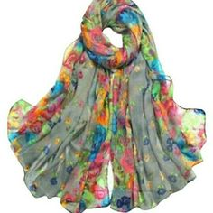 Brand new! Grey Voile Scarf BRAND NEW IN PKGING Accessories Scarves & Wraps