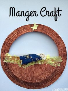 This manger craft for kids is perfect for Christmas or a Sunday School activity.