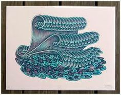 woodcuts - waves