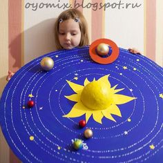 Model of the solar system, http://hative.com/solar-system-project-ideas-for-kids/