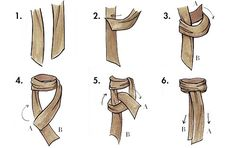 How to tie a scarf ~ The Twice-Around Ascot