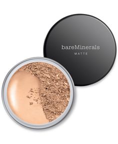 Shiny face no more! Bare Escentuals bareMinerals Matte is perfect for those with oily skin. Just swirl a small amount of bareMinerals in lid with a brush until all the bareMinerals are tucked into the bristles. Then, tap away any excess product. And buff onto face in a circular motion.