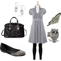 Girly day look, created by #kelley-williams-whitmire on #polyvore. #fashion #style Banana Republic #Valentino