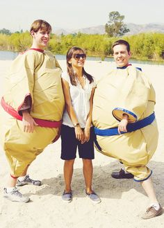 The Office: John Krasinski, Rashida Jones, and Ed Helms.