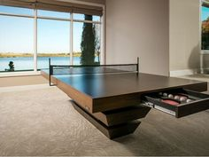 A game room (or recreational room) is a great place to hang out with family and friends. It also provides peace of mind to have a safe, controlled environment for … Table Tennis Set, Interior Design Games, Game Room Basement, House Games, Balkon Design, Video Game Rooms, Game Room Design, Loft, Modern Cottage