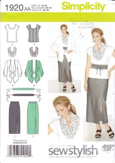 Free UK p/&p mccalls Ladies Easy Learn to Sew sewing pattern 7348 straig...