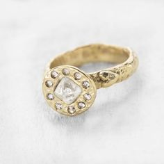Octahedron diamond ring | engagement | | wedding | | ring | | rings | | engagement rings | | wedding rings | | engagement ring ideas | | boho bride | | roughluxe jewelry | #engagement #wedding #ring #rings #engagementrings #weddingrings