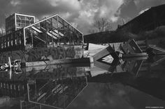 Berlin Blub (abandoned spa) #Reflections #water #Berlin