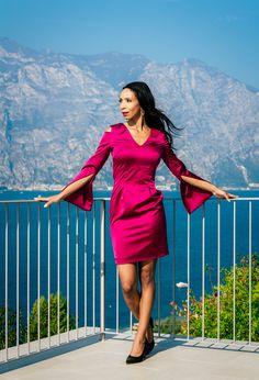 One Shoulder, Shoulder Dress, Dresses With Sleeves, Vintage, Long Sleeve, Fashion, Kleding, Moda, Sleeve Dresses