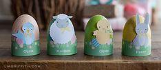 Printable Easter Critter Egg Holders