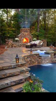 SERIOUSLY!!!  Pool built into the hill out back. YESSSSS!