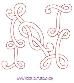 Monogram for Hand Embroidery: Celtic N – Needle'nThread.com