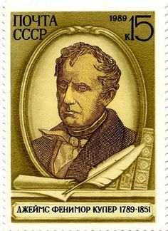 Literary Stamps: Cooper, James Fenimore (1789 – 1851)