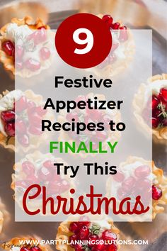 If you're planning a Christmas party, there are so many details to hammer out! However, food is the main focus of any holiday gathering. Instead of stressing and labouring over complicated dishes, try these Christmas appetizer recipes. #partyideas #partyfood #christmas #xmas #recipe #christmasparty #partyappetizers
