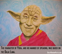Well now I know why the Dalai Lama reminded me of Yoda so much when I heard him speak!