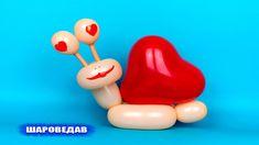 Влюбленная улитка из шаров Snail in love of balloons