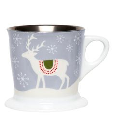 Bring a little delight to your morning routine with this seasonal graphic-adorned porcelain mug. W x HHolds 12 oz.