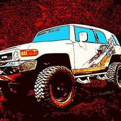 e097ec431 Toyota FJ Cruiser 4x4 Cartoon Panel from VivaChas - Lots of Swag you just  might enjoy. '