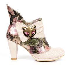 NEW-IRREGULAR-CHOICE-MIAOW-CREAM-FLORAL-AC-CAT-HI-SHOES-ANKLE-BOOTS-UK-3-8-5