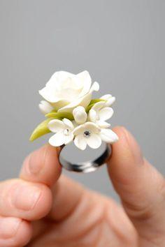 Anillo+artesanal+de+porcelana+de+Bunte+Bijouterie+por+DaWanda.com