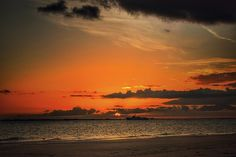 Sunset over Sanibel Island in Florida