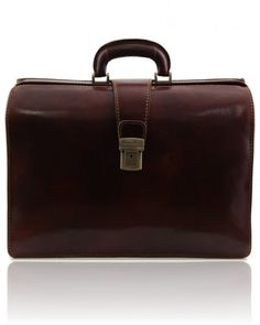 CANOVA TL141186 Leather Doctor bag briefcase 3 compartments - Borsa medico in pelle 3 scomparti - Tuscany Leather