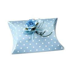£3.35 Spotted Blue Pillow 10pk