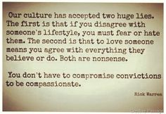 "I don't think I could love this anymore!! ""You don't have to compromise convictions to be compassionate."""