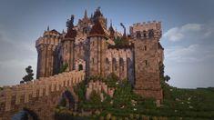 Cháteau Du Wren - DOWNLOAD Minecraft Project Minecraft Kingdom, Minecraft Castle, Minecraft Medieval, Minecraft Plans, All Minecraft, Minecraft Construction, Minecraft Blueprints, Minecraft Projects, Minecraft Structures