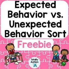 unexpected behavior sorts and cut/paste worksheets. This concept is typically taught when teaching emotional regulation skills good citizens units or making classroom rules. Elementary School Counseling, School Social Work, School Counselor, Elementary Schools, Social Skills Lessons, Social Skills Activities, Counseling Activities, Life Skills, Autism Activities