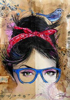 "Saatchi Art Artist Loui Jover; Drawing, ""threads"" #art"