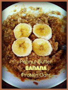 peanut butter and banana protein oats