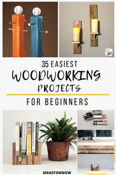 Diy Projects Using Wood, Wood Projects For Beginners, Beginner Woodworking Projects, Diy Wood Projects, Easy Projects, Diy Woodworking, Wood Crafts, Project Ideas, Cool Diy