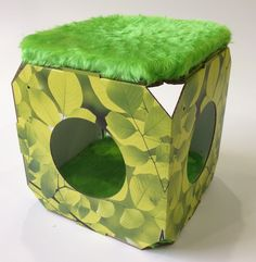 Cat Bed/Cat House/Cat Cube by MyFourCatsDesigns on Etsy https://www.etsy.com/listing/248348704/cat-bedcat-housecat-cube