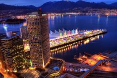 Vancouver Waterfront and the North Shore Mountains