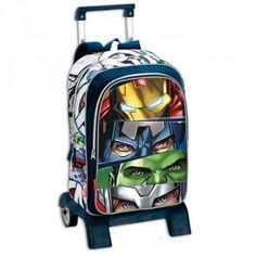 Sac à dos à roulettes Avengers Team 42 CM trolley Haut de Gamme - Cartable