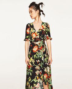 527a43ee4bbe0 Image 2 de ROBE LONGUE À IMPRIMÉ FLORAL de Zara Mode Hiver 2018, Imprimés  Floraux