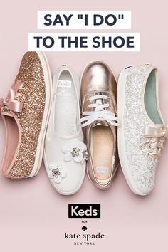 Wedding shoes, found. Introducing the Keds x kate spade new york bridal collection: effortless glamour for walking down the aisle and happily ever after. Shop now at Keds.com.