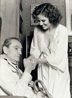 Luchino Visconti and Claudia Cardinale