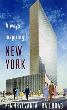 Vintage New York USA Travel Posters Print