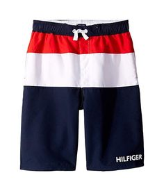 Tommy Hilfiger Sherman Swim Trunks (Big Kids) Boys Trunks, Swim Trunks, Big Kids, Kids Boys, Middle School Boys, Tommy Hilfiger Kids, Boys Swimwear, Navy, Free Shipping