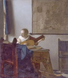 TICMUSart: Woman with a lute - Johannes Vermeer (1664) (I.M.)