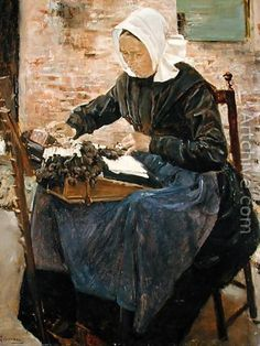 A Dutch Lace-Maker, 1881 - Max Liebermann